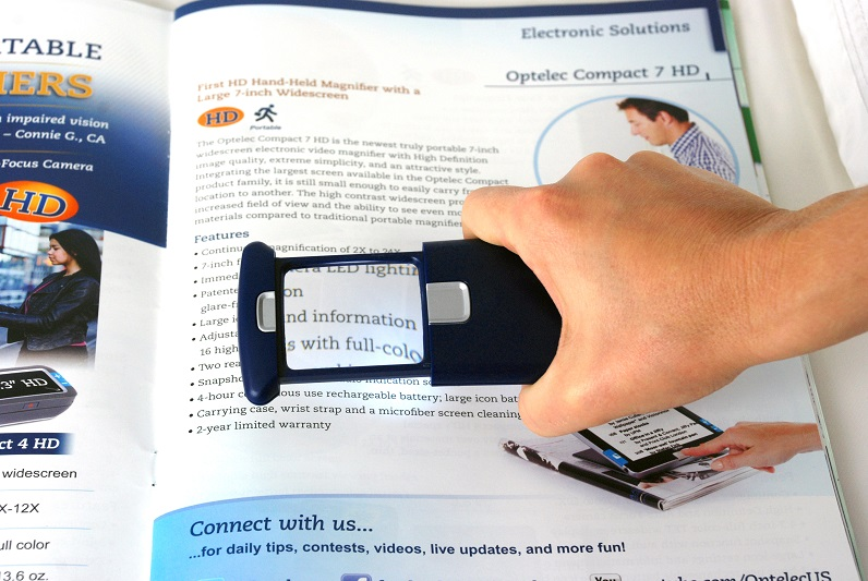 NO LONGER AVAILABLE - Optelec PowerSliderTM Hand-Held Magnifier