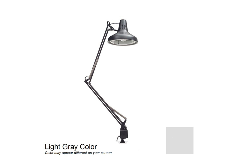 "Luxo LC Combo Task Lamp 45"" Arm with Clamp Mount Base, Gray"
